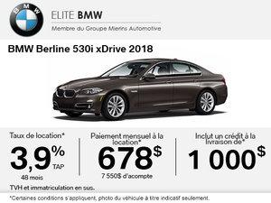 Conduisez le BMW 530i xDrive 2018 aujourd'hui!