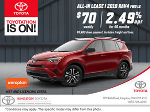 Save on the 2018 Toyota RAV4!