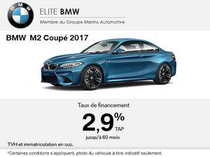 La BMW M2 Coupé 2017 en rabais
