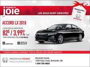 Économisez sur la Honda Accord 2018!