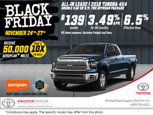 Black Friday - 2018 Tundra