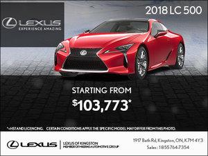 Get the 2018 Lexus LC 500 Today!