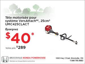 Tête motorisée pour système VersAttach - Honda