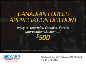 Canadian Forces Appreciation Discount