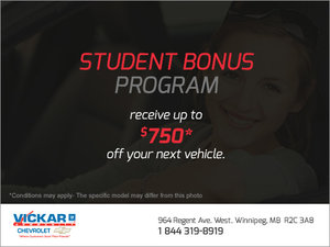 Vickar Chevrolet's Student Bonus Program