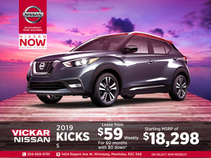 Get the 2019 Nissan Kicks Today!