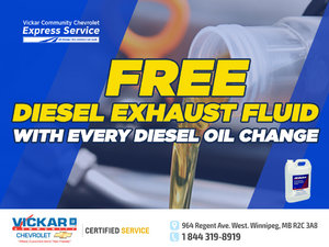 FREE DIESEL EXHAUST FLUID WITH EVERY DIESEL OIL CHANGE