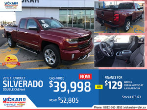 2018 SILVERADO 4 DOOR DOUBLE CAB 4X4 #JT8123