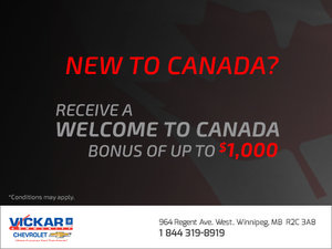 Vickar Chevrolet's New to Canada Program
