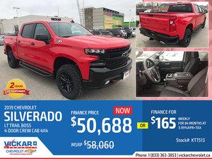 2019 CHEVY SILVERADO LT TRAIL BOSS 4 DOOR CREW CAB 4X4 #KT7513