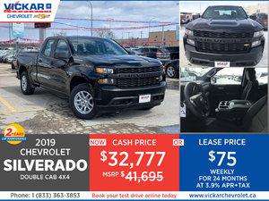 2019 SILVERADO DOUBLE CAB 4X4 # KT7770