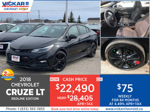 2018 CHEVY CRUZE LT REDLINE EDITION  # JC0241