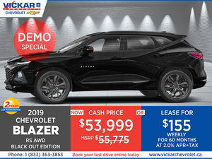 2019 CHEVROLET Blazer RS AWD Black out Edition - STOCK# KT7968