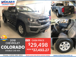 2018 Colorado Double Cab 4X4  Stock# JT5407