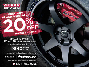 Vickar Nissan Midnight Black Mag Wheel Special
