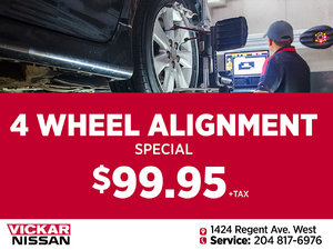 Vickar Nissan Service 4 Wheel Alignment Special