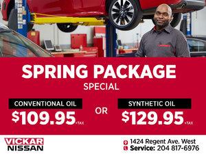 Vickar Nissan Service Spring Package Special