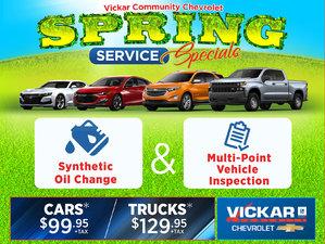Vickar Chevrolet Spring Service Specials