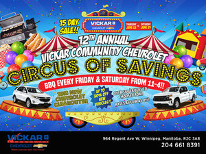 12th Annual Vickar Community Chevrolet Circus of Savings