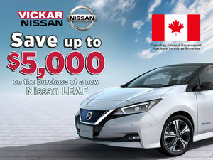Save up to $5,000 on the purchase of a new Nissan LEAF