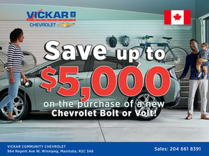SAVE UP TO $5,000 ON THE PURCHASE OF A NEW CHEVROLET VOLT OR BOLT