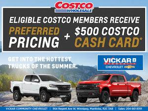 Vickar Chevrolet's Costco Member Offer