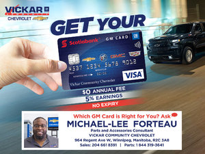 Vickar Community Chevrolet GM Card for You
