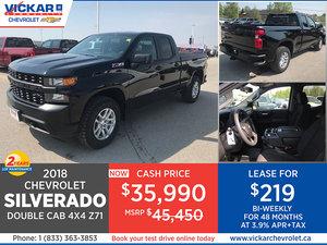 2019 SILVERADO DOUBLE CAB 4X4 Z71 STOCK# KT9103