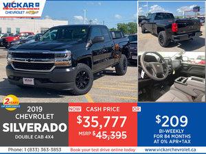 2019 SILVERADO DOUBLE CAB 4X4 STOCK# KT8219