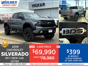 2019 Chevy Silverado RST Crew Cab LIFTED Stock# KT4794