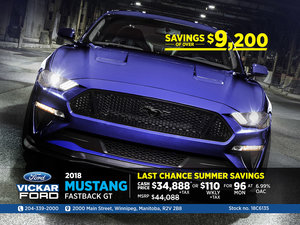Last Chance Summer Deals at Vickar Ford! Mustang Stock #18C6135
