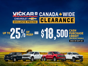 Vickar Community Chevrolet Canada Wide Sales Event