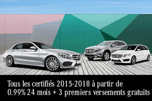 Tous les certifiés 2015-2018 à partir de 0,99% sur 24 mois