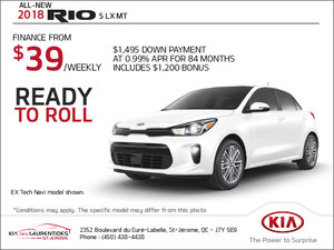The 2018 Kia Rio 5 door