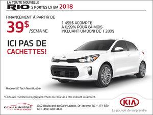 La Kia Rio 5 portes 2018