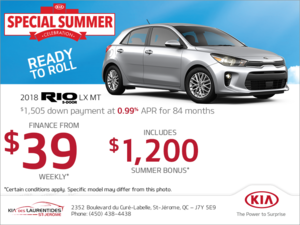 Finance the 2018 Kia Rio 5-Door!