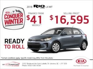 Get the 2018 Kia Rio 5-Door!