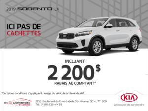 La Kia Sorento 2019!