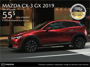 Procurez-vous la Mazda CX-3 2019! chez Prestige Mazda à Shawinigan