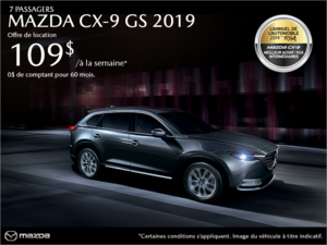 Procurez-vous la Mazda CX-9 2019! chez Prestige Mazda à Shawinigan