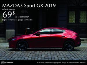Procurez-vous la Mazda3 Sport 2019! chez Prestige Mazda à Shawinigan