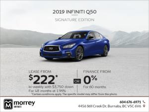 2019 Q50 Signature Edition