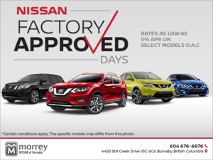 Nissan Factory Approved Sale