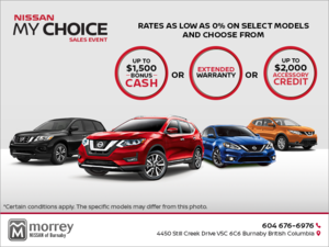 Nissan My Choice Sales Event