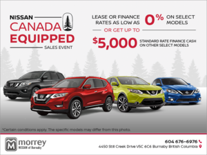Nissan Canada Equipped Sales Event