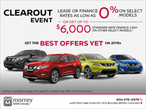 Nissan's Clearout Event!
