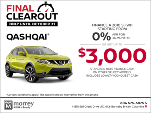 Get the 2018 Qashqai today!
