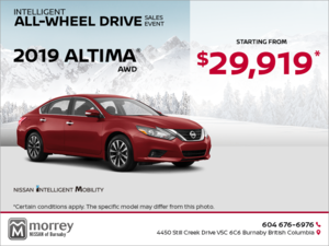 Get a brand new Nissan Altima Today!