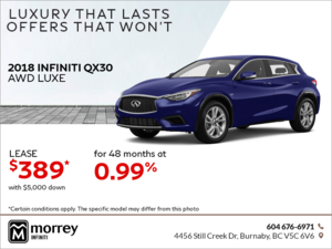 2018 QX30 AWD Luxe