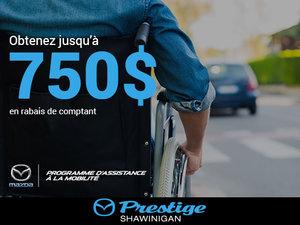Programme d'assistance à la mobilité chez Prestige Mazda à Shawinigan